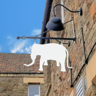 about the white elephant cafe image of the sign